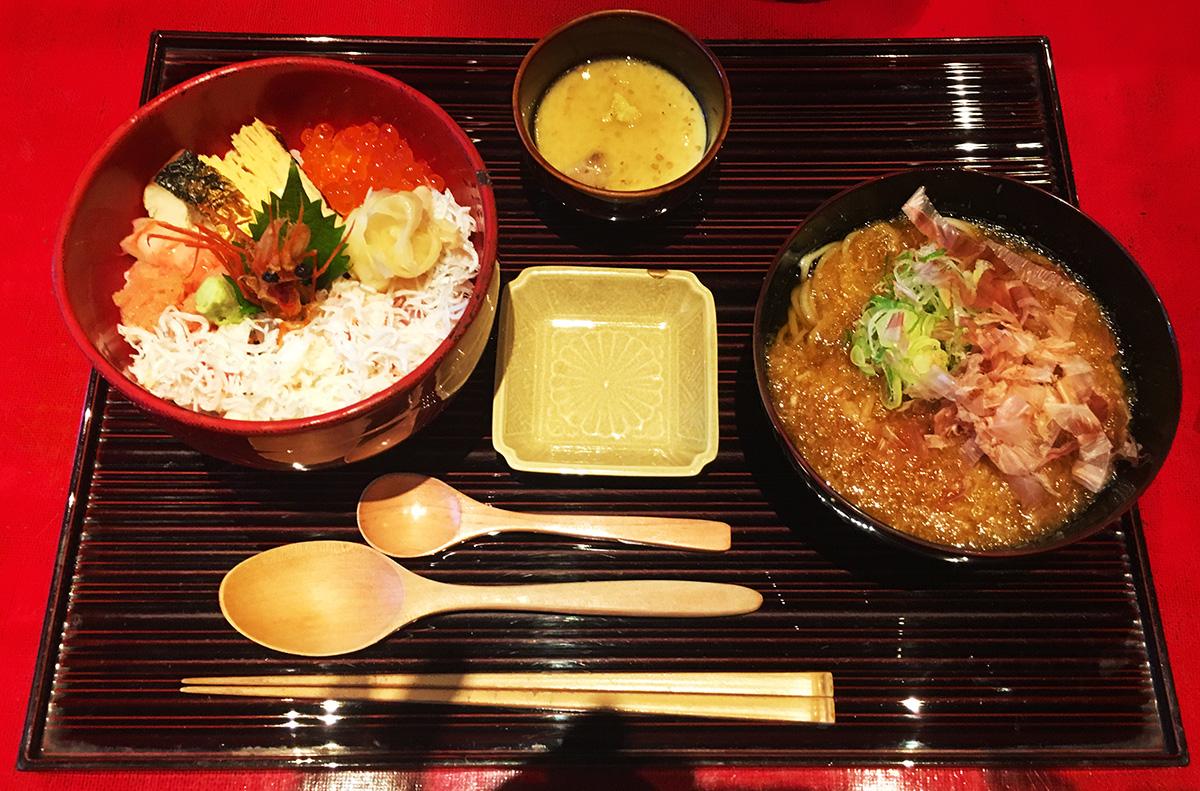 海鮮バラちらしと越前おろし蕎麦膳
