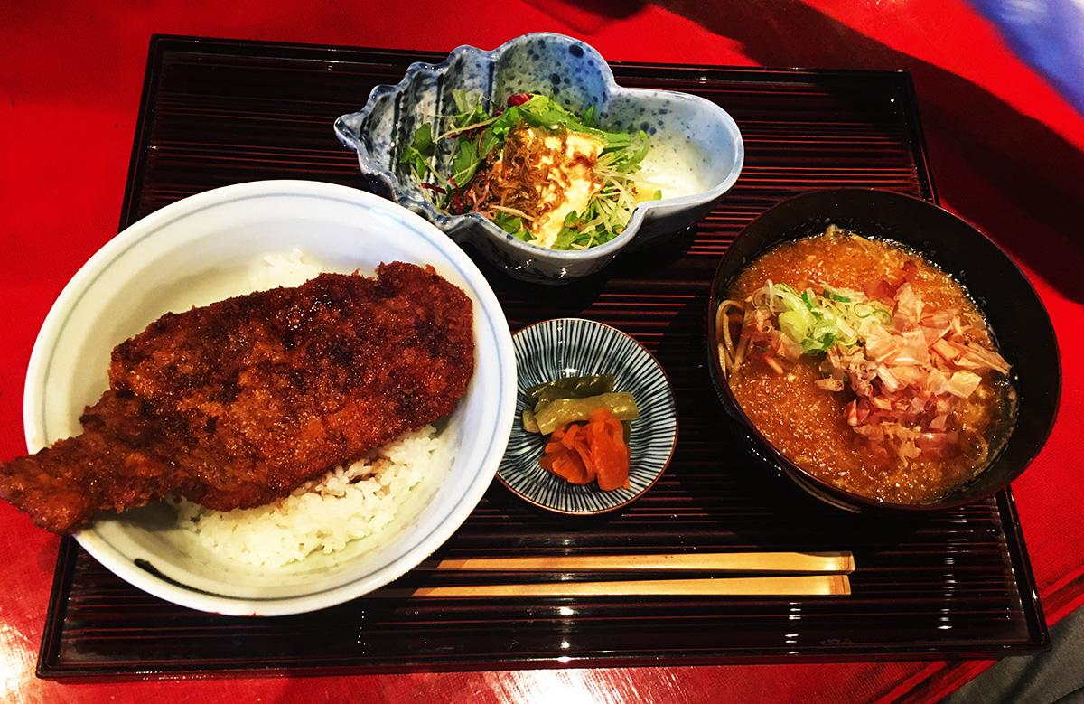 ソースカツ丼と越前おろし蕎麦膳