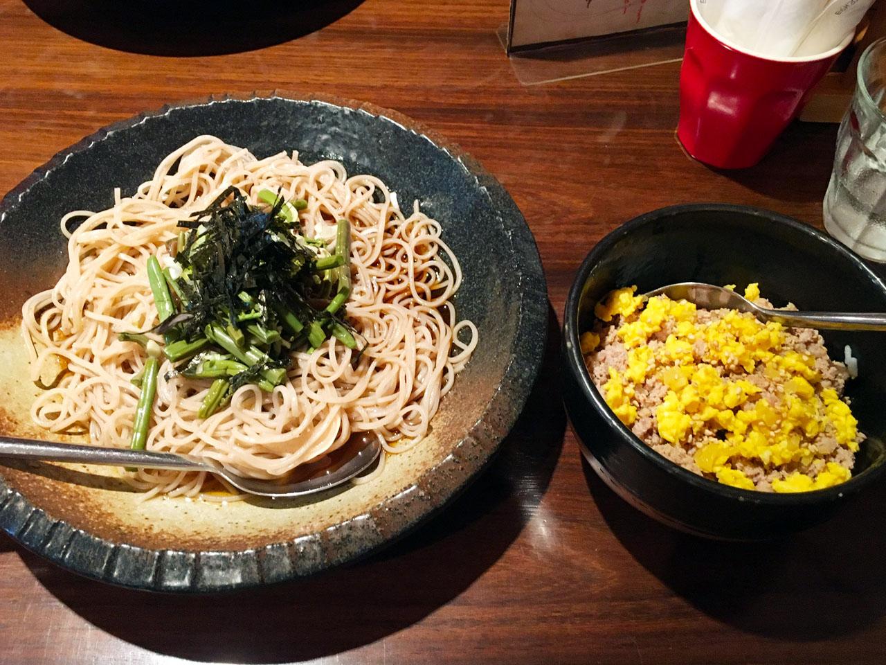 山菜蕎麦セット